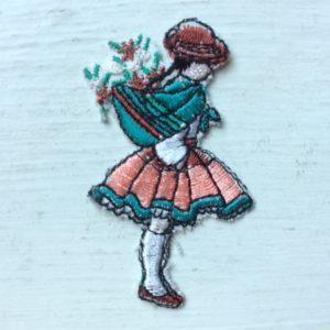 女な子ワッペン、代官山ファブリカ、イタリア製ワッペン