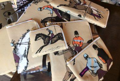 馬柄生地、ガストンダニエラ、ポーチ、お財布、iPadケース、ファブリカ代官山
